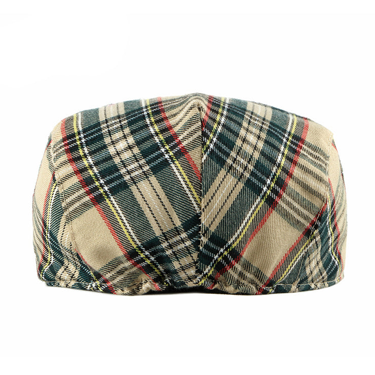 Men Plaid Elegant Berets