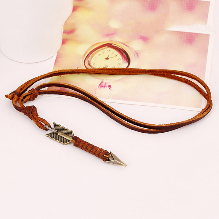 Brown Casual Alloy Necklaces