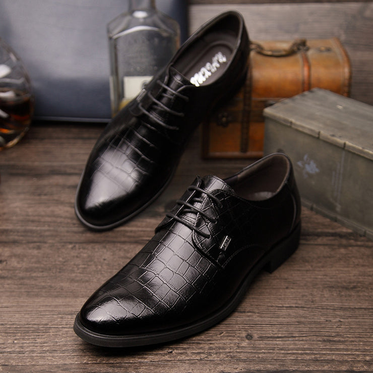 Men Leather Slip Resistant Business Casual Formal Shoes