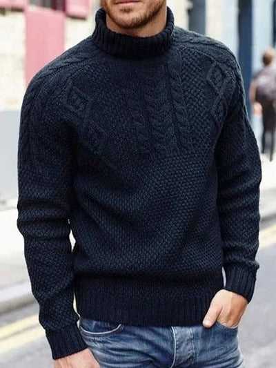 Turtleneck Plain Sweater