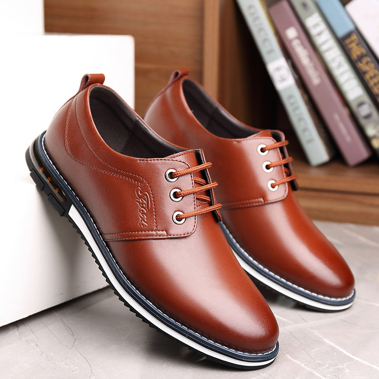 Men Microfiber Leather Non Slip Large Size Soft Sole Casual Driving Shoes