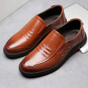 Men Genuine Leather Comfy Soft Slip On Casual Driving Loafers