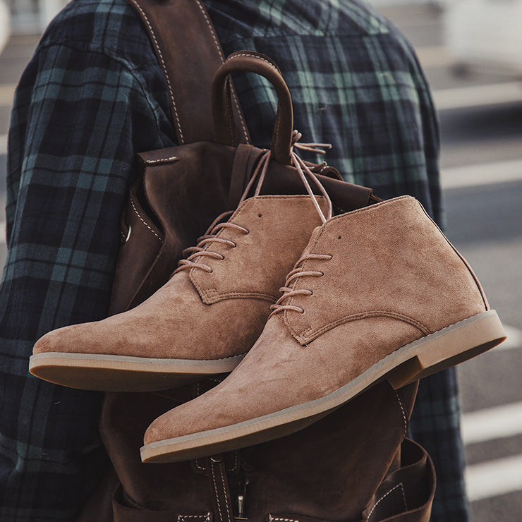 Men Lace Up Comfy Casual Ankle Boots