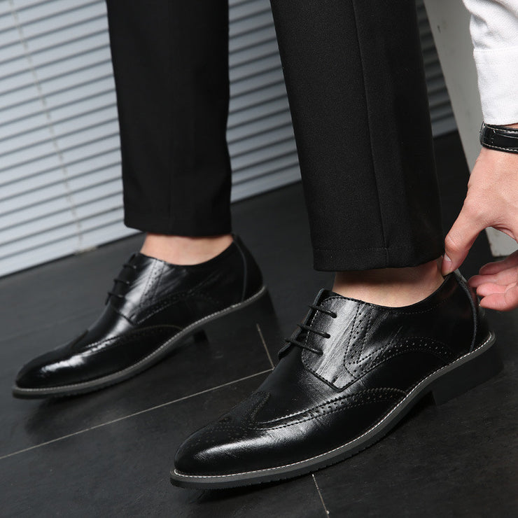 Men Non-slip Large Size Leather Date Formal Shoes