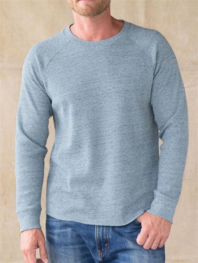 Crew Neck Solid Cotton-Blend Shirts & Tops