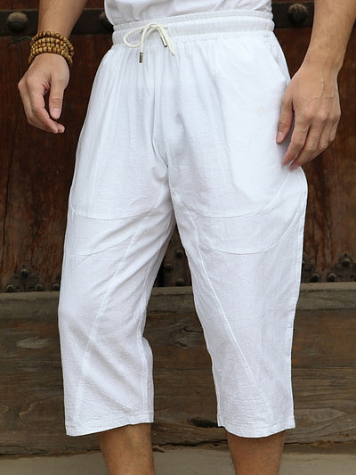 Casual Cotton Drawstring Pants