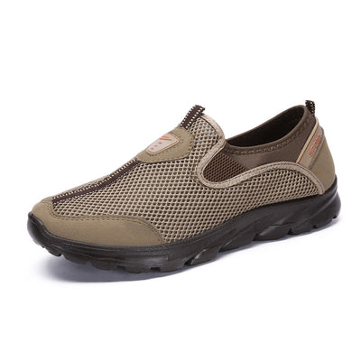 Men Large Size Daily Mesh Fabric Casual Shoes