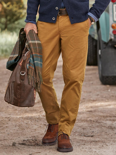 Casual Cotton-Blend Chino Pants