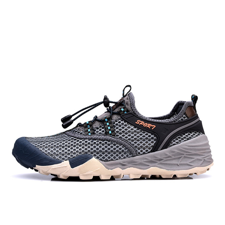 Men Mesh Fabric Split Joint Outdoor Casual Shoes