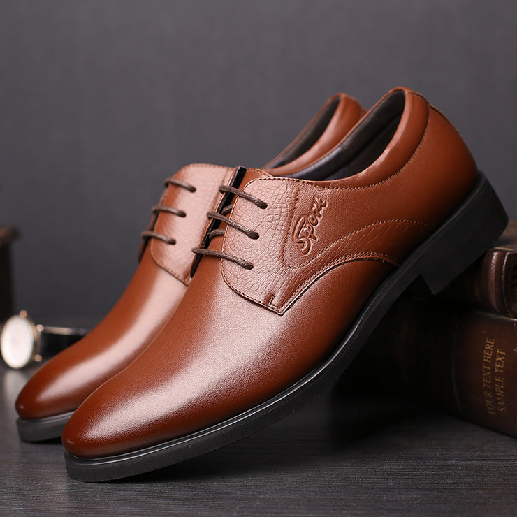 Men British Style Leather Casual Formal Dress Shoes