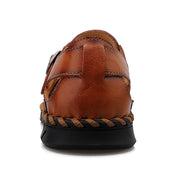 Men Genuine Leather Classic Outdoor Round Toe Sandals
