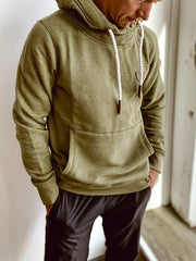 Green Pockets Casual Hoodie Sweatshirt