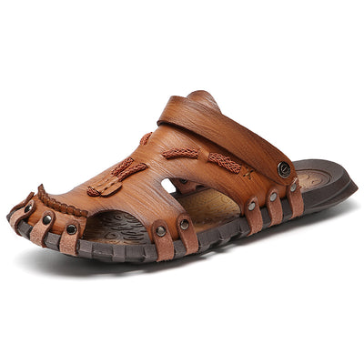Microfiber Leather Spring Sandals