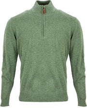 Green Stand Collar Solid Knitted Casual Sweater