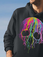 Black Casual Skull Sweatshirt