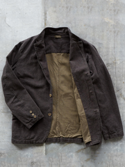 Brown Wool Blend Casual Lapel Plain Outerwear
