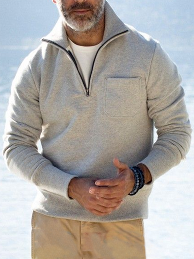Casual Stand Collar Sweatshirt