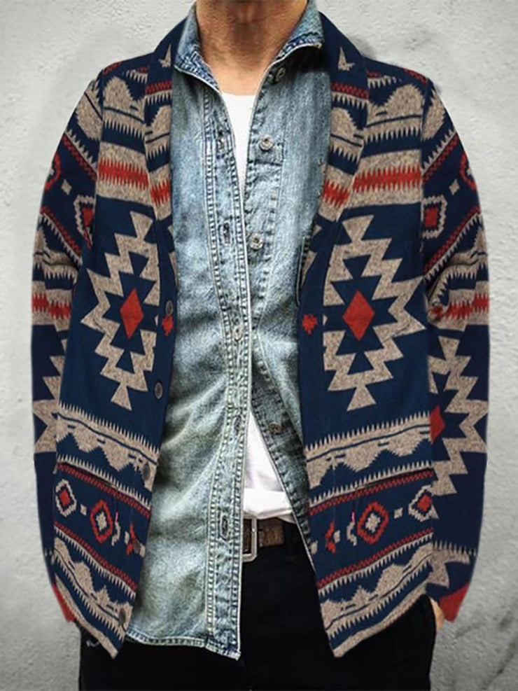As Picture Tribal Vintage Lapel Outerwear