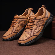 Men Hollow Out Splicing Comfy Soft Casual Shoes