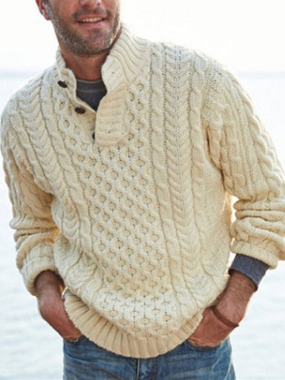 White Plain Casual Sweater