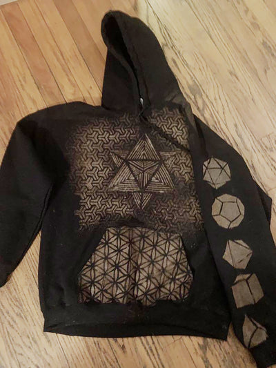 Black Vintage Abstract Sweatshirt