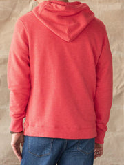 Red Cotton Vintage Sweatshirt