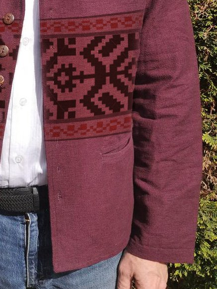 Wine Red Vintage Tribal Outerwear
