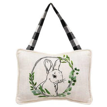 Load image into Gallery viewer, Bunny Portrait Pillow Ornament