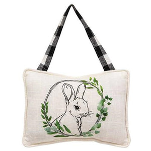 Bunny Portrait Pillow Ornament