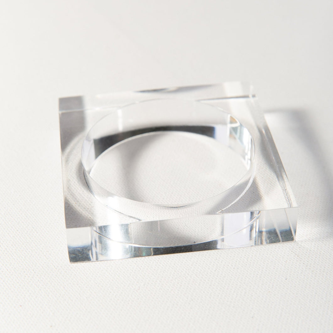 Clear lucite square bangle