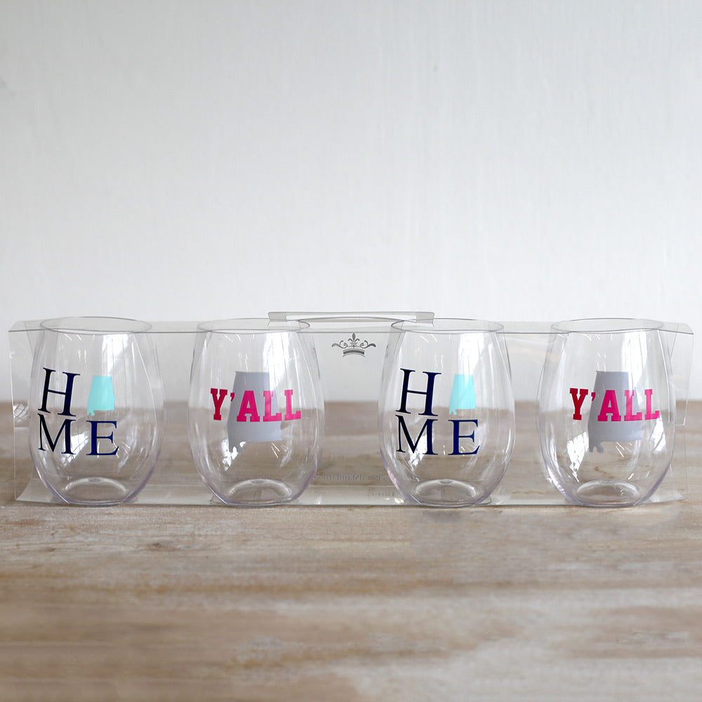 Alabama To- Go Wine Glasses