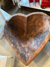 Load image into Gallery viewer, Heart Shaped Wooden Bowl