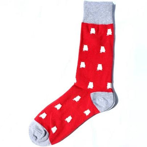 Men's Alabama Red/ White Socks