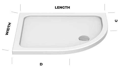 deluxe offset quadrant shower tray