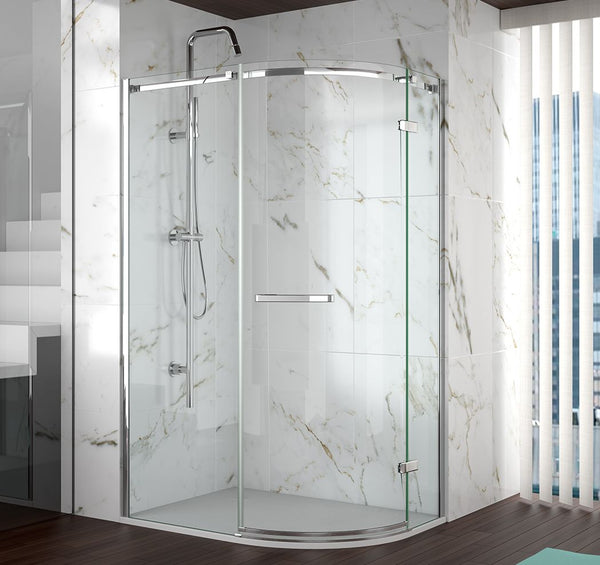 Merlyn 8 Series Frameless Single Offset Quadrant Shower Door