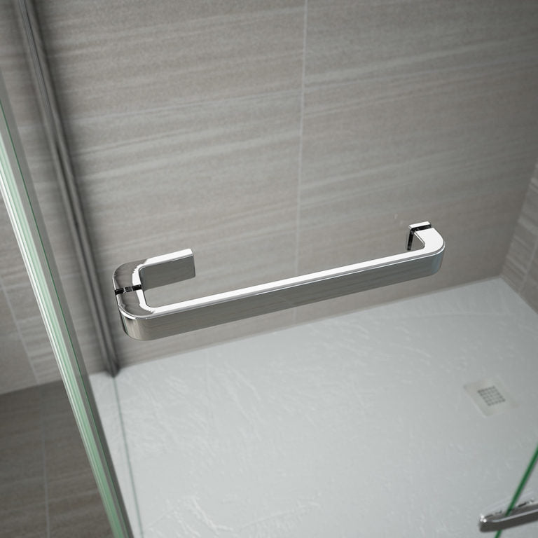 Merlyn 8 Series Frameless Hinge & Inline Shower Door With Side Panel