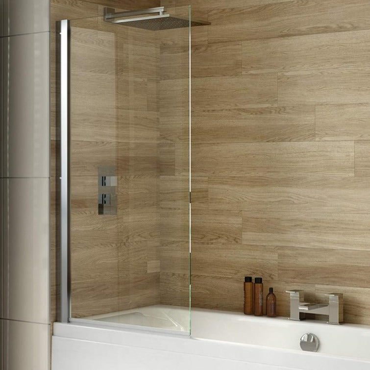 iBATH8 Square Top Hinged Bath Screen 800 x 1500mm