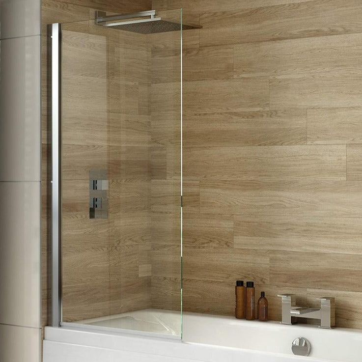 iBATH6 Square Top Hinged Bath Screen 800 x 1500mm