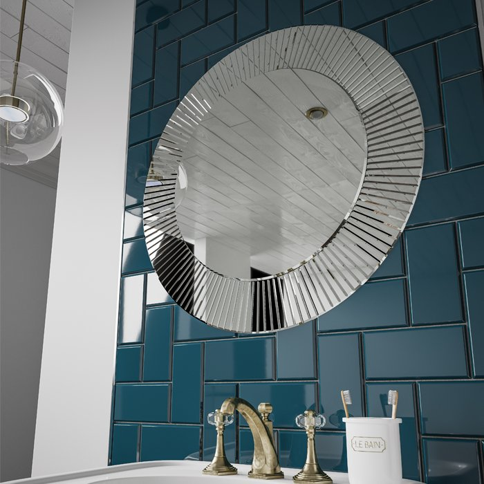 HiB Arte Round Bathroom Mirror
