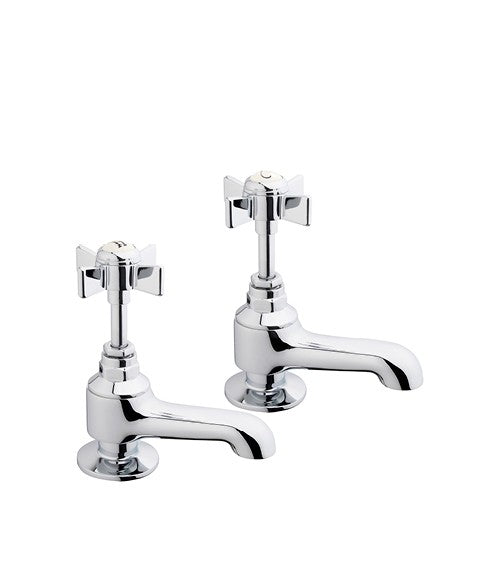 Ascot Traditional Bath Pillar Taps