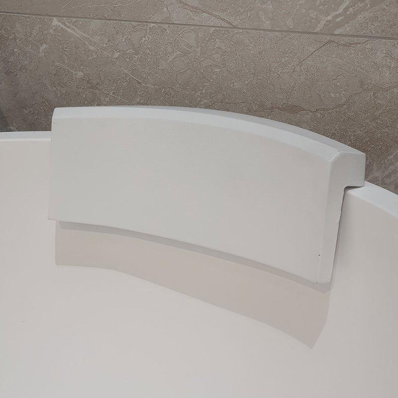 Granlusso Comfort Soft White Bath Headrest Pillow