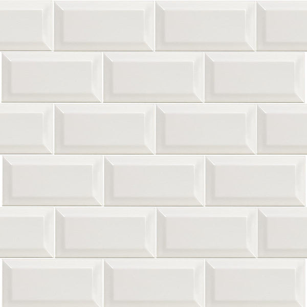 Deluxe Mini Metro Bevel Edge Gloss Tile 7.5x15cm