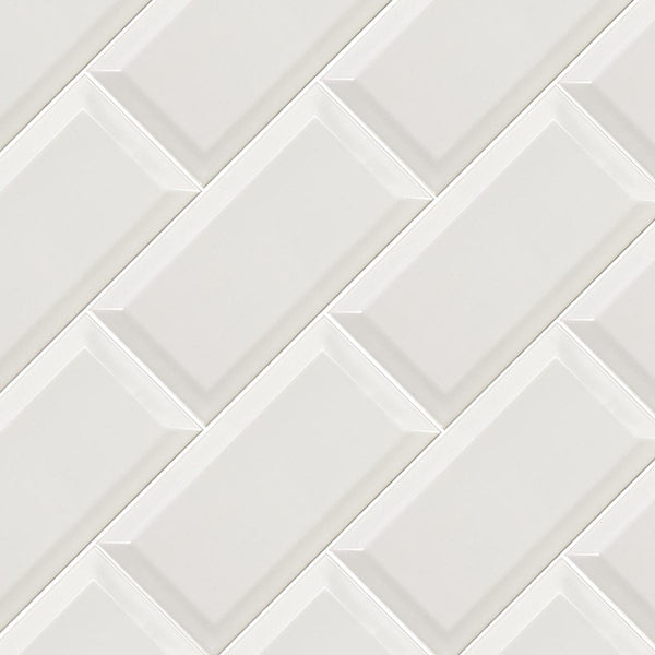 Deluxe Metro Bevel Edge Gloss Tile 10x20cm