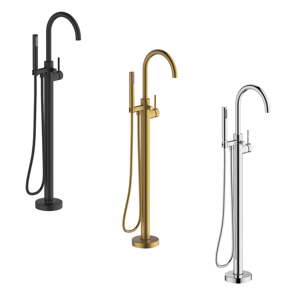 Hoxton Floorstanding Mono Bath Shower Mixer With Hand Shower