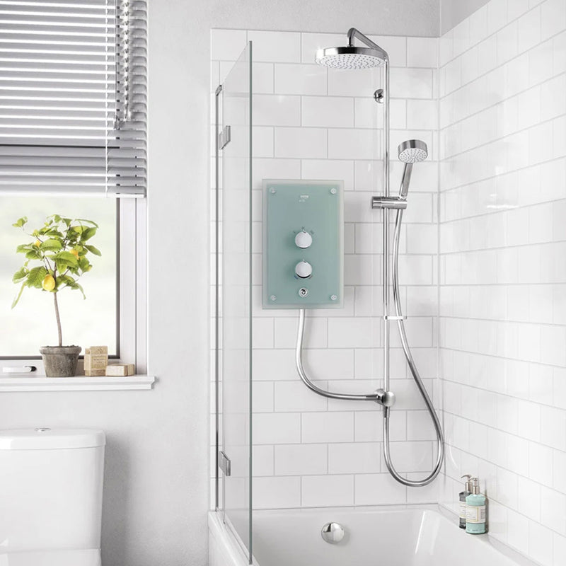 Mira Azora Dual Frosted Glass Electric Shower 9.8kW