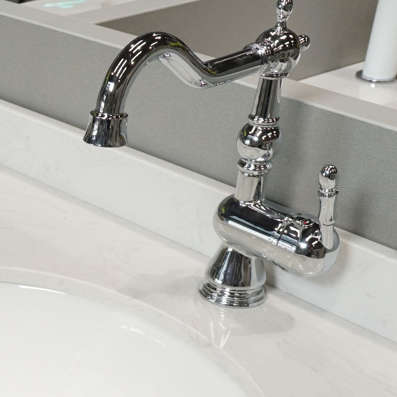 Shrewsbury Monobloc Basin Mixer Tap With Easy Clean Click-Clack Waste