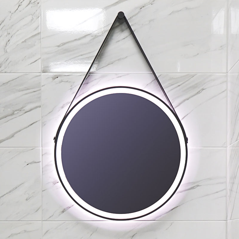 HiB Solstice LED Illuminated Black Framed Mirror With Demister Pad
