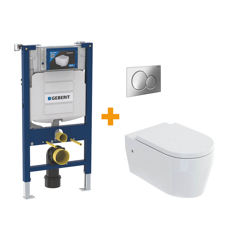 Stadium Wall Hung WC with Geberit Toilet Frame & Cistern