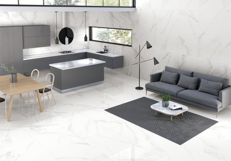 Torano Bianco Polished Tile 60x120cm