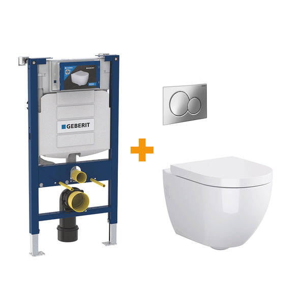 Urban Harmony Wall Hung WC with Geberit Toilet Frame & Cistern
